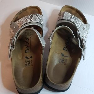 Birkentock Betula Silver with crystal accents 38